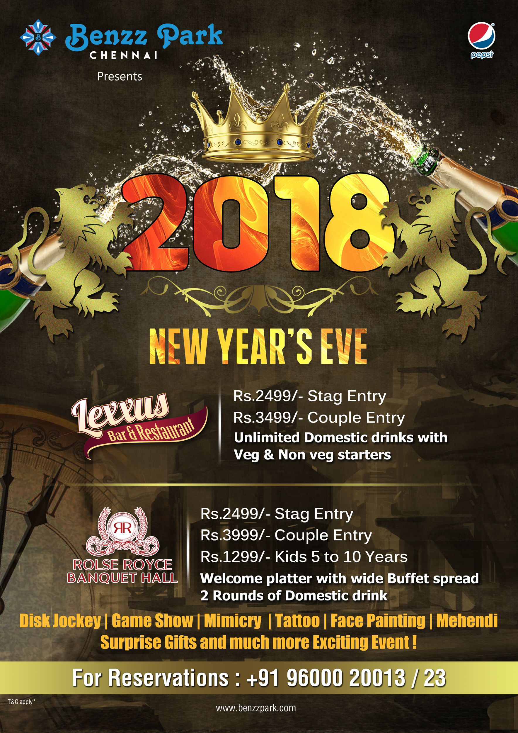 new year special buffet chennai
