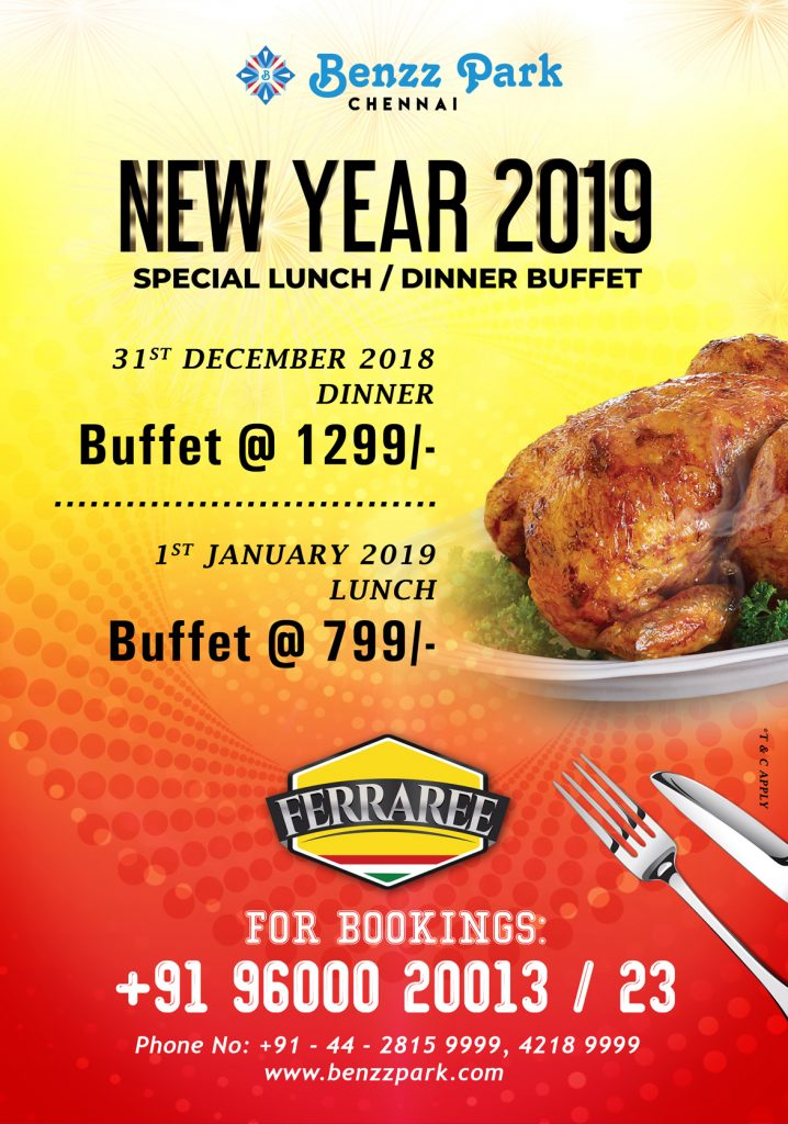 NEW YEAR 2019 Special Lunch / Dinner Buffet
