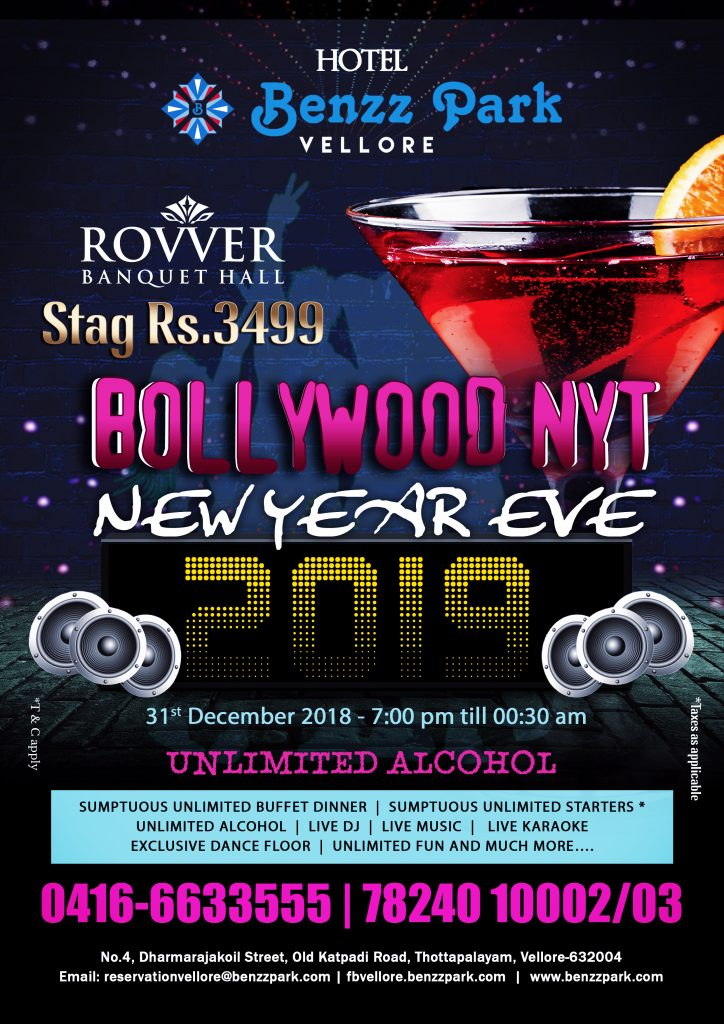 BOLLYWOOD NYT NEW YEAR EVE 2019